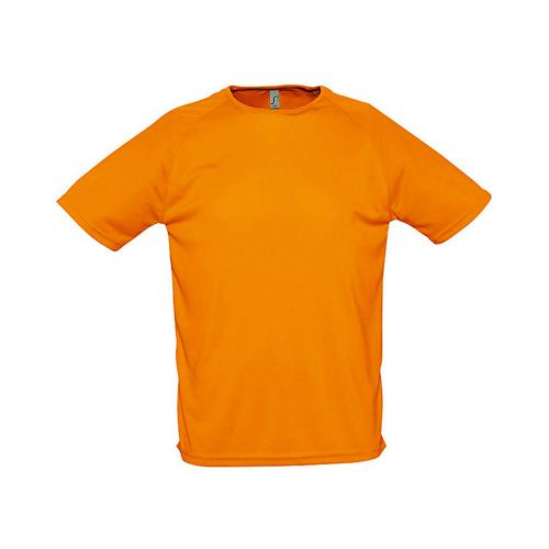 Tee-shirt uni technic PES adulte orange fluo
