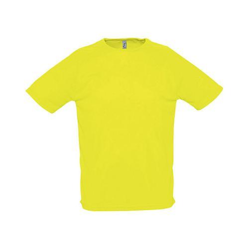 Tee-shirt personnalisable uni technic PES adulte jaune fluo