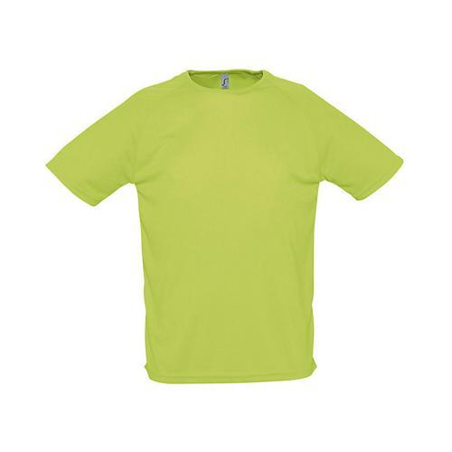 Tee-shirt uni technic PES adulte vert pomme