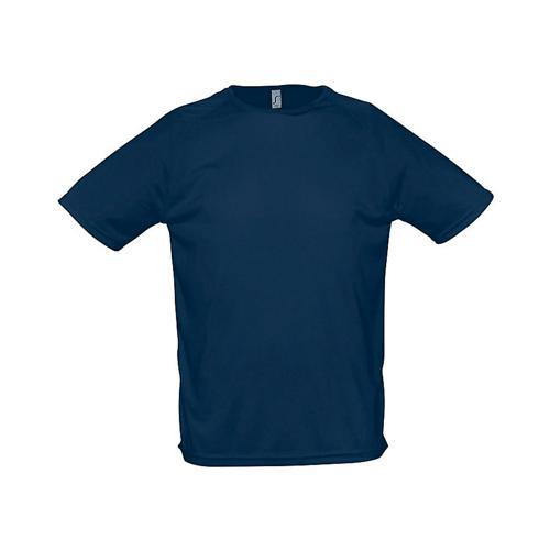 Tee-shirt uni technic PES adulte marine