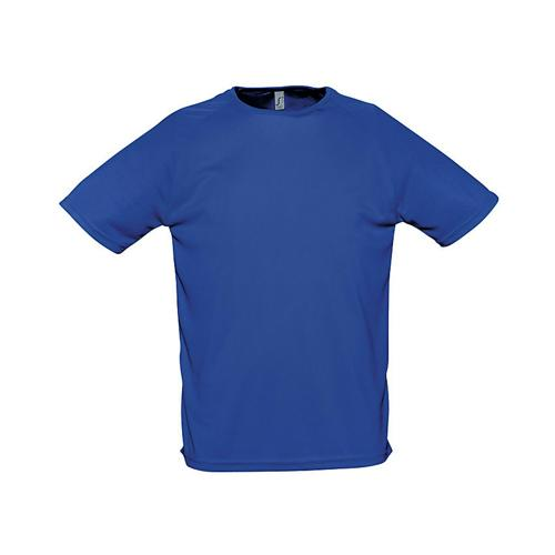 Tee-shirt uni technic PES adulte bleu royal