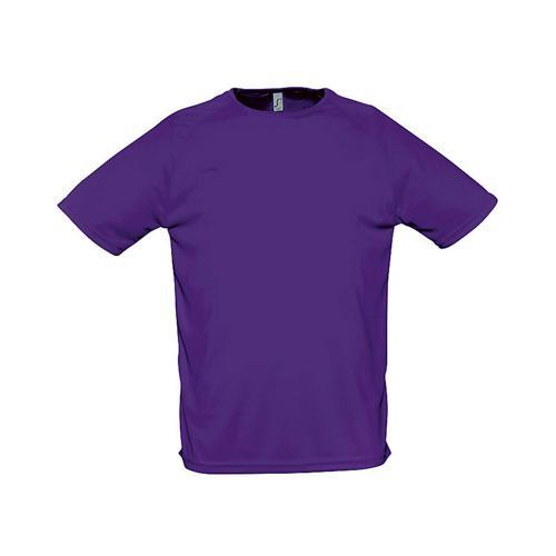 Tee-shirt uni technic PES adulte violet