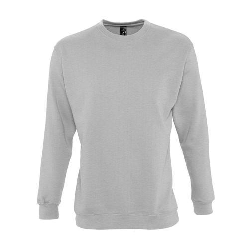 Sweat-shirt molleton gris chiné