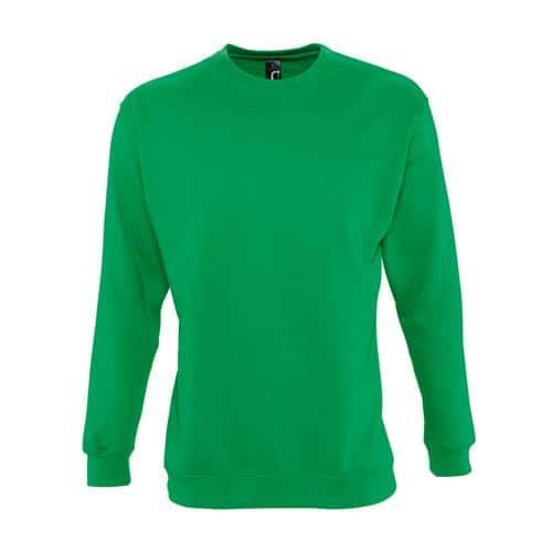 Sweat-shirt molleton vert prairie