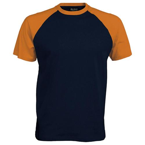 T-shirt bicolore Traditional marine orange