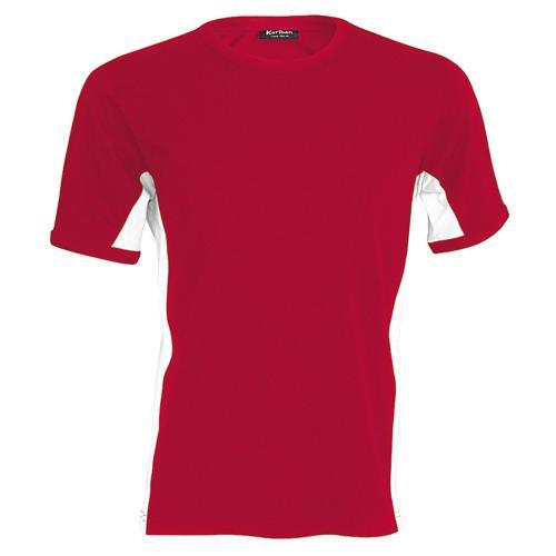 Tee-shirt bicolore equipe rouge blanc