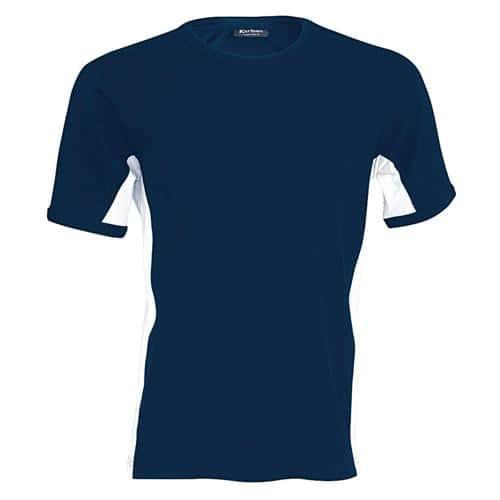 T-shirt bicolore Equipe marine blanc