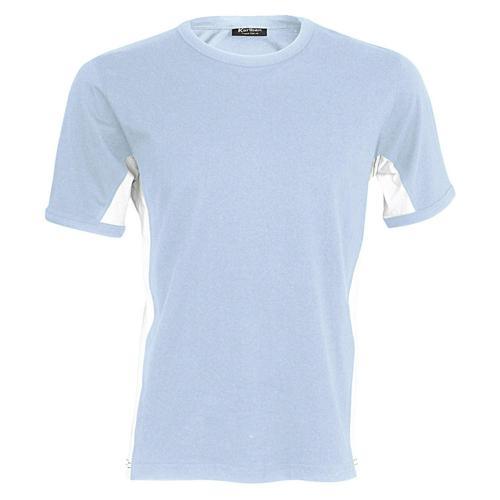 T-shirt bicolore Equipe ciel blanc