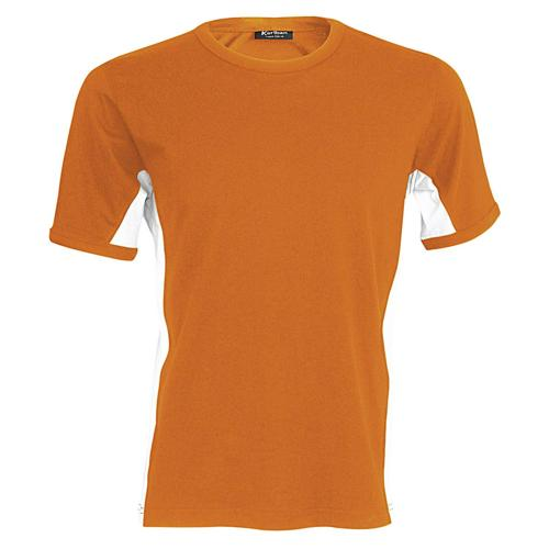 T-shirt bicolore Equipe orange blanc