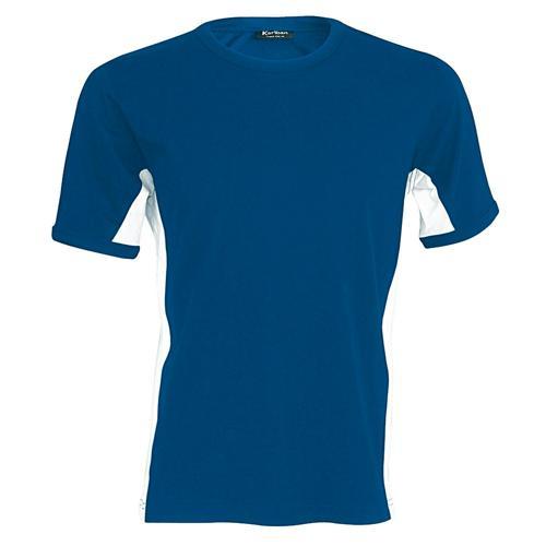 T-shirt bicolore Equipe bleu royal blanc