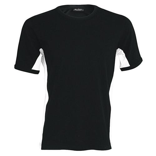 T-shirt bicolore Equipe noir blanc