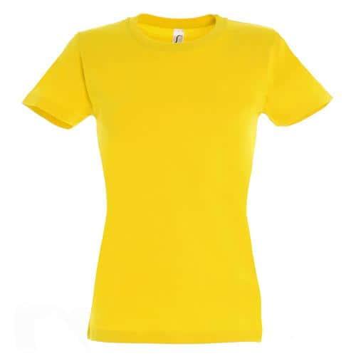 T-shirt Active 190 g femme jaune
