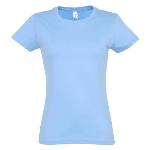 Tee-shirt personnalisable Active 190 g femme ciel