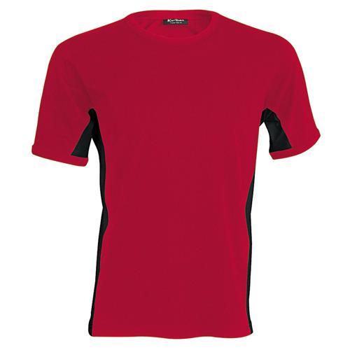T-shirt bicolore Equipe rouge noir