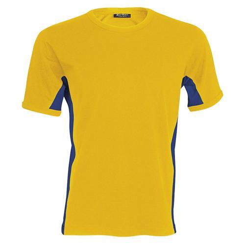 T-shirt bicolore Equipe jaune bleu royal