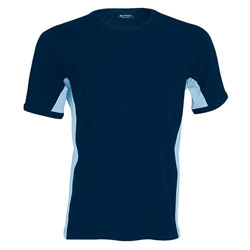 T-shirt bicolore Equipe marine ciel