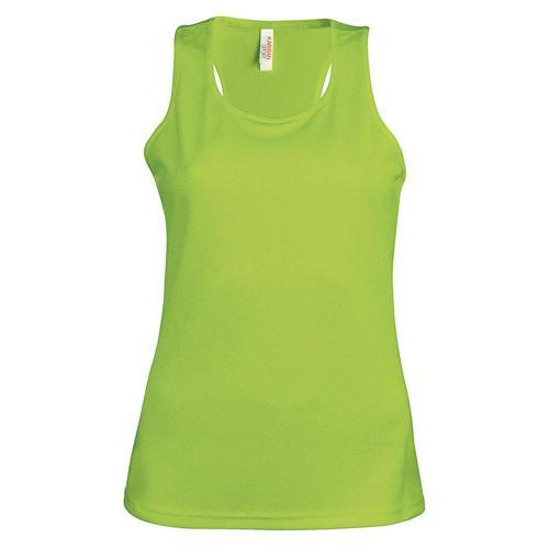 Débardeur femme technic  PES TECH vert lime
