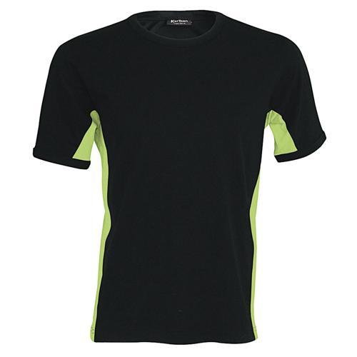 T-shirt bicolore Equipe noir lime