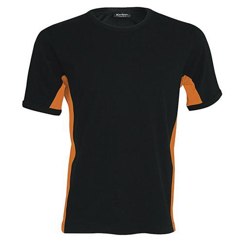 T-shirt bicolore Equipe noir orange