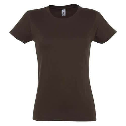 Tee-shirt personnalisable Active 190 g femme chocolat