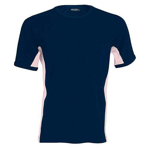 T-shirt bicolore Equipe marine rose