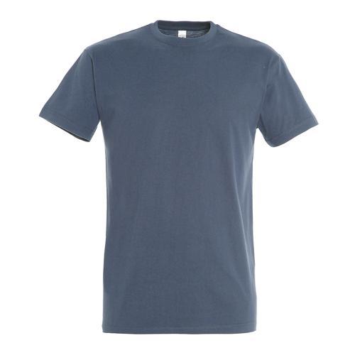 T-shirt active adulte 190g bleu denim