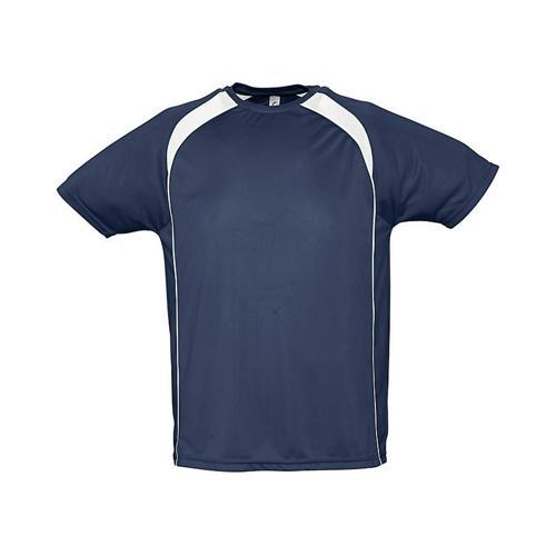 Tee-Shirt Bicolore Match PES Marine/Blanc