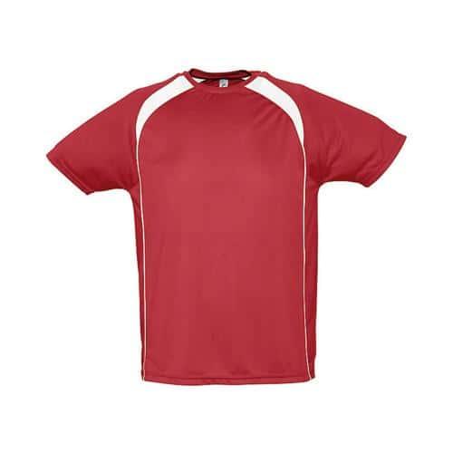 Tee-Shirt Bicolore Match PES Rouge/Blanc