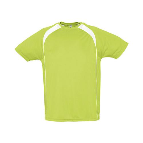 Tee-Shirt Bicolore Match PES Lime/Blanc