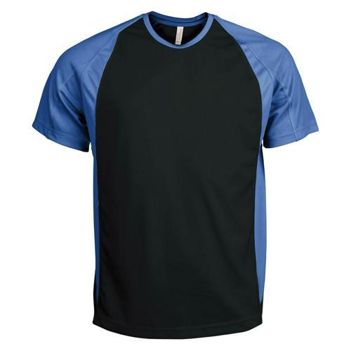 T-Shirt Bicolore PES Noir/Bleu