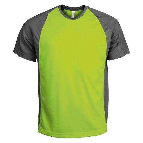 T-Shirt Bicolore PES Lime/Gris