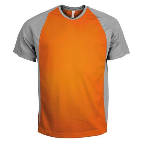 T-Shirt Bicolore PES Orange/Gris