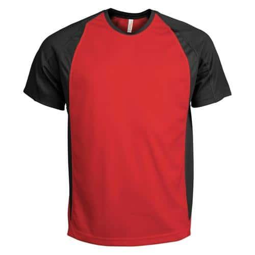 T-Shirt Bicolore PES Rouge/Noir