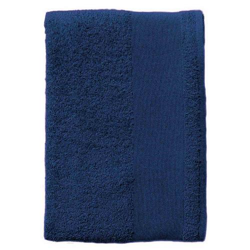 Serviette coton éponge marine 30 x 50cm.