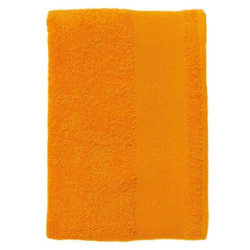 Serviette coton éponge orange 50x100 cm.
