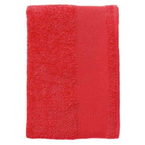 Serviette coton éponge rouge  50x100 cm.