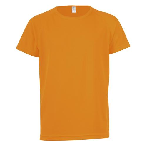 Tee-shirt technic PES enfant orange fluo