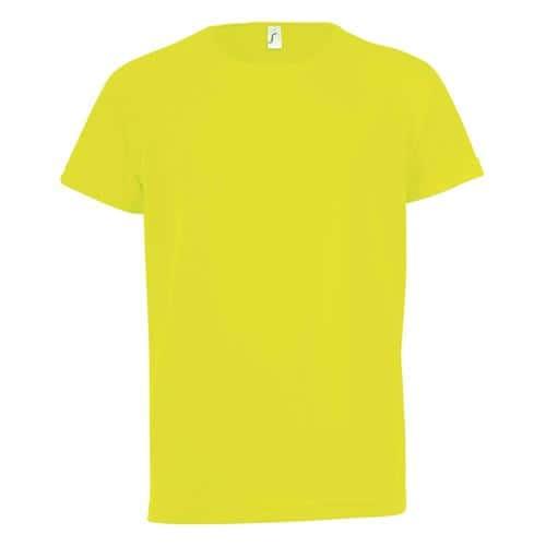 Tee-shirt technic PES enfant jaune fluo