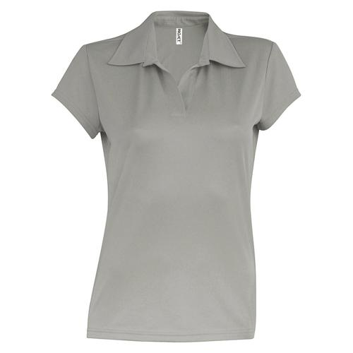 POLO FEMININ USUAL PES TECH GRIS ARGENT