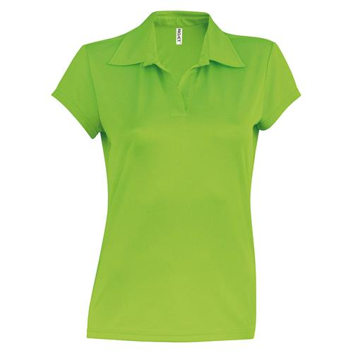 POLO FEMININ USUAL PES TECH VERT LIME