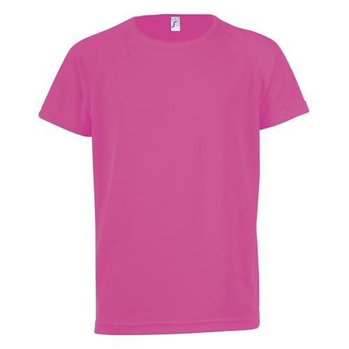 Tee-shirt technic PES rose fluo