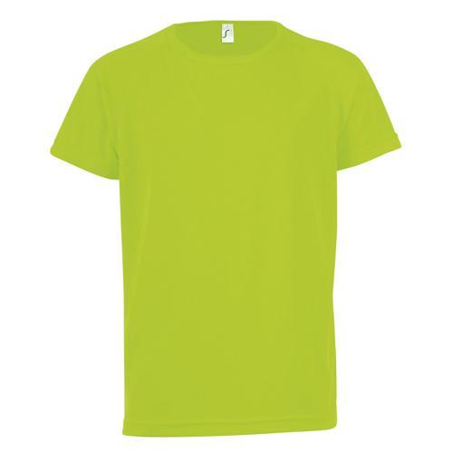 Tee-shirt technic PES vert fluo