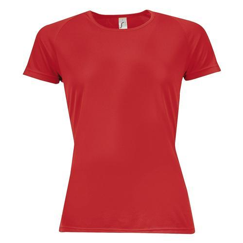 Tee-shirt multitech PES féminin Rouge
