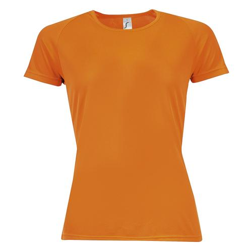 Tee-shirt multitech PES féminin orange fluo