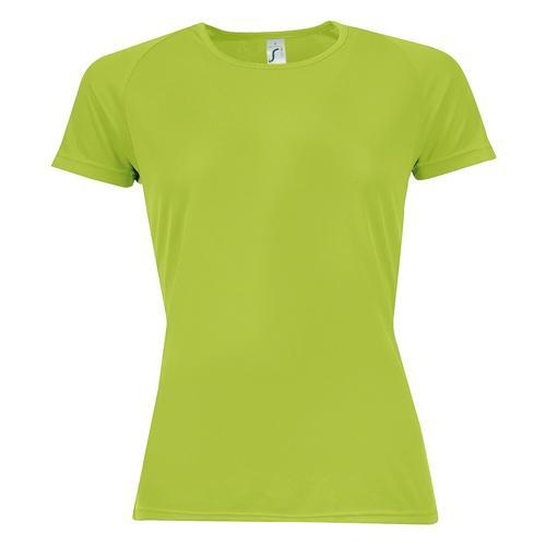 Tee-shirt multitech PES féminin vert pomme