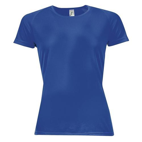 Tee-shirt multitech PES féminin bleu royal