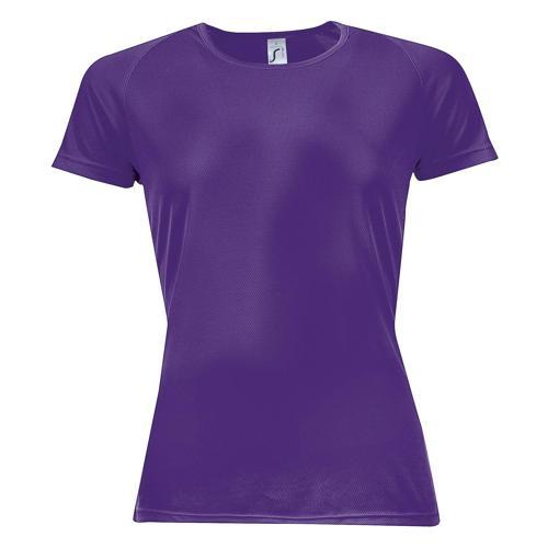 Tee-shirt multitech PES féminin violet