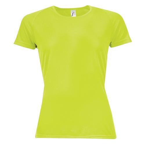 Tee-shirt multitech PES féminin vert fluo