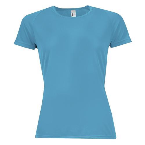 Tee-shirt multitech PES féminin bleu attol