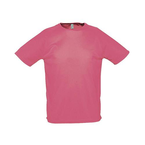 Tee-shirt uni technic PES adulte rose fluo